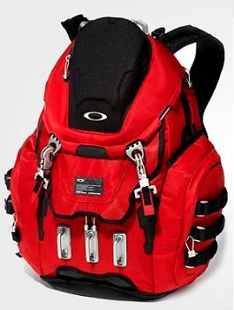 """oakley kitchen sink backpack """"extremely rare"""" bright red"""