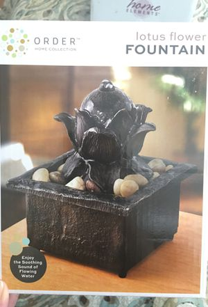 Lotus Flower Water Fountain For Sale In Rockville Md Offerup