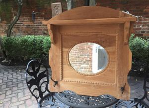 Rustic Antique German mirror and coat/towel rack. for Sale in Alexandria, VA