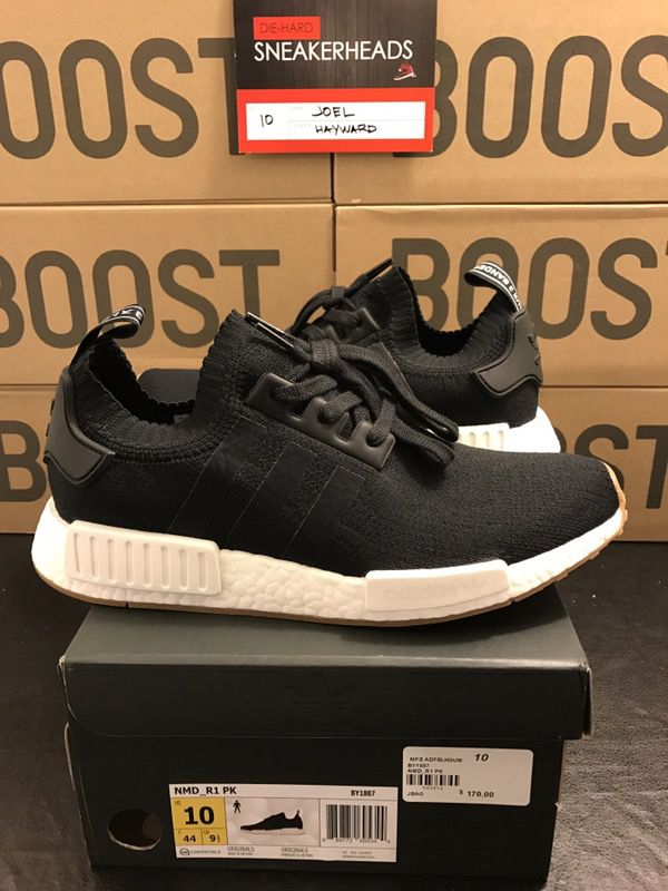 860b04fe6dd DS Adidas NMD R1 PK Black Gum Bottom Size 10 for Sale in Hayward