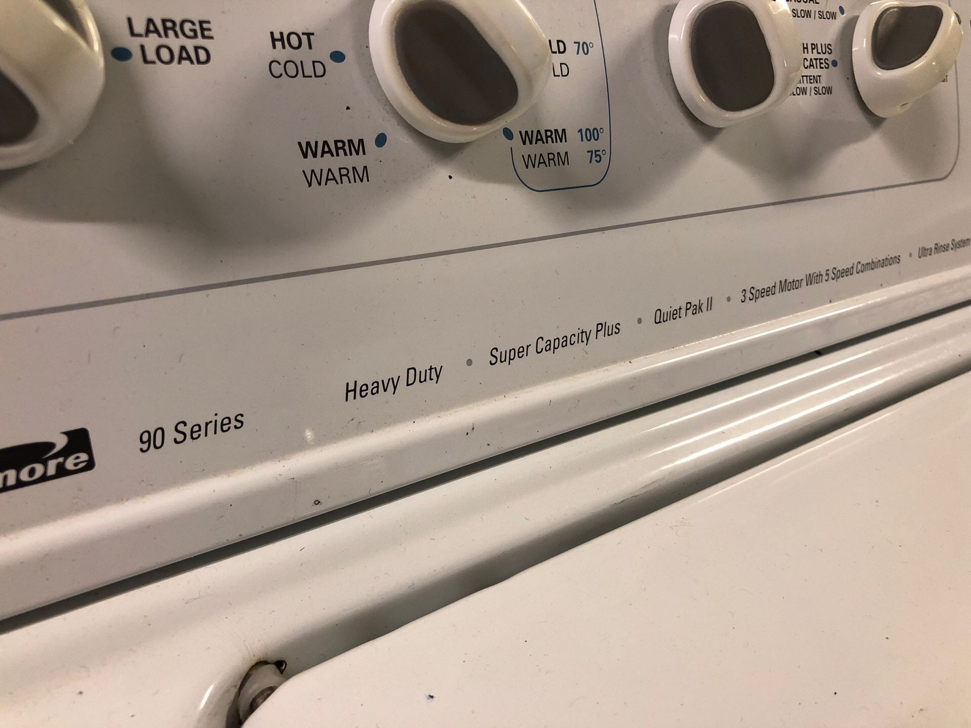 Kenmore Washer&Dryer SuperCapacity 1yr warranty 34yr Same location Credit Cards Welcome Delivery available