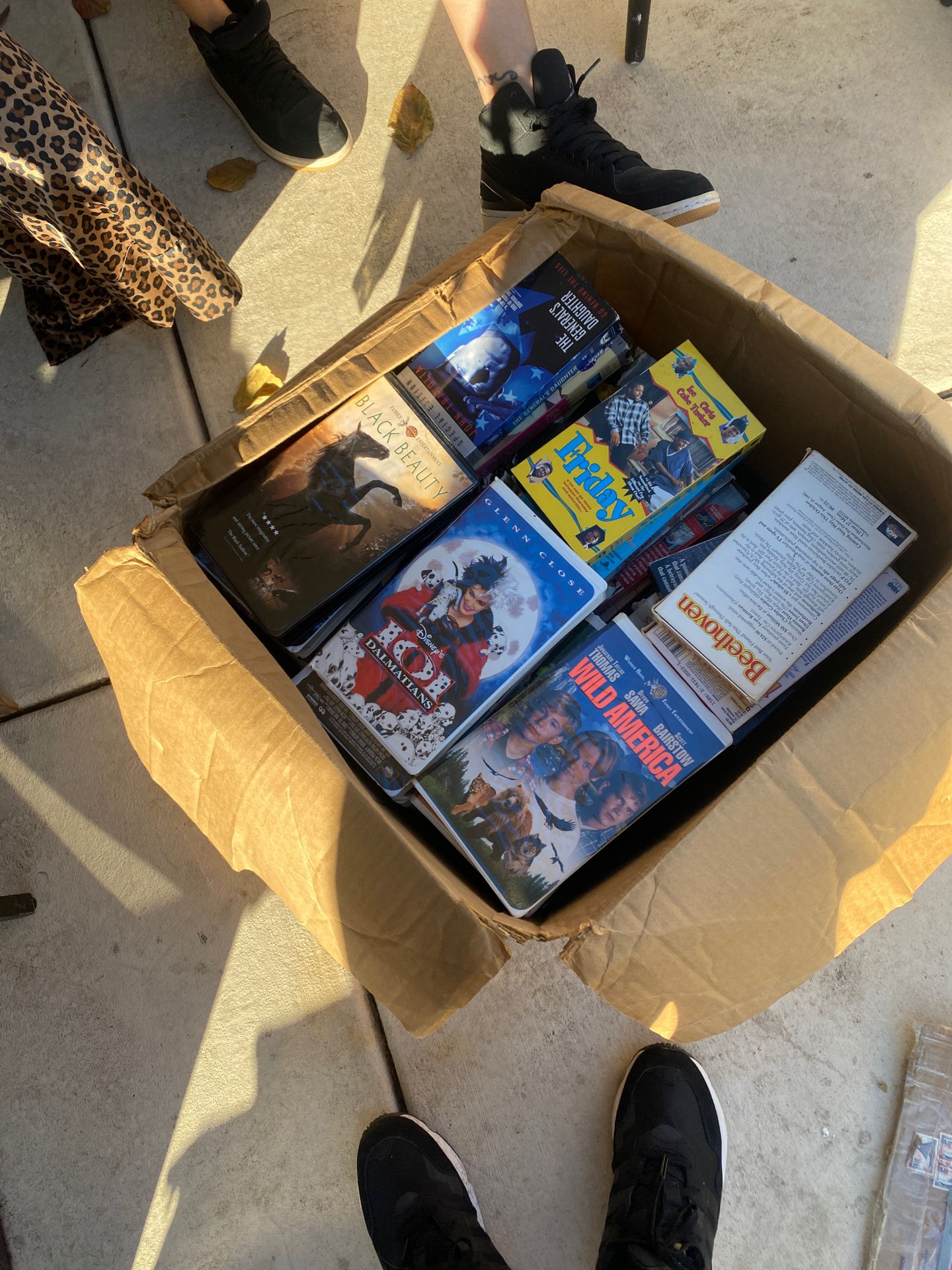 VHS TAPES (6 boxes) make me an offers