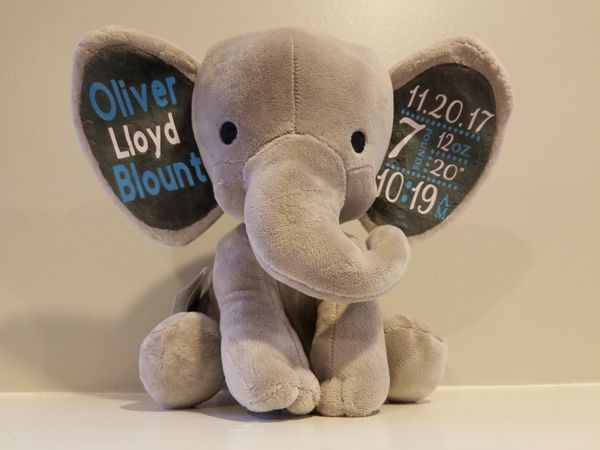 Personalized Elephant With Birth Stats For Sale In Stone Mountain Ga Offerup