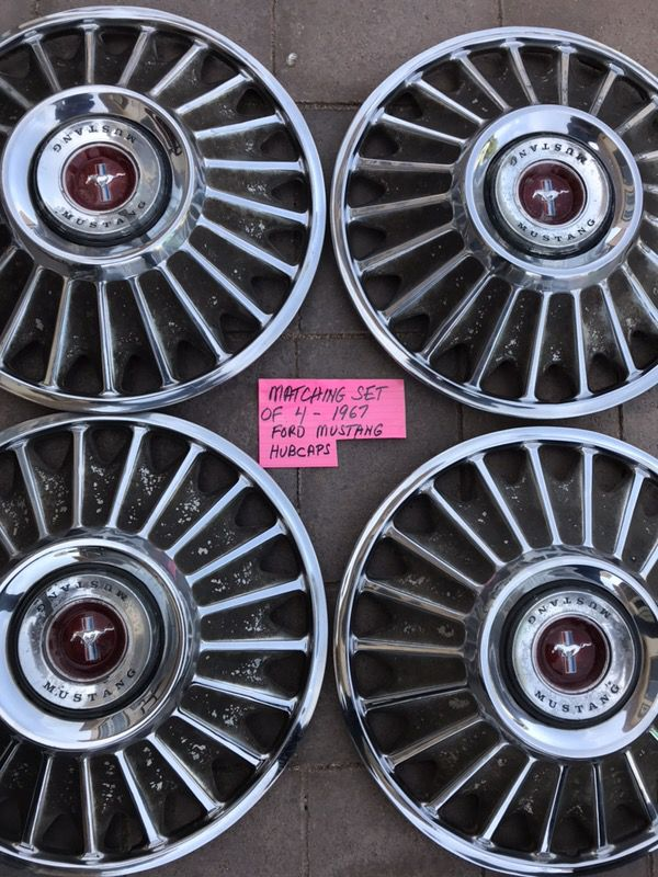 1967 Ford Mustang Hubcaps Original For Sale In Chandler Az Offerup