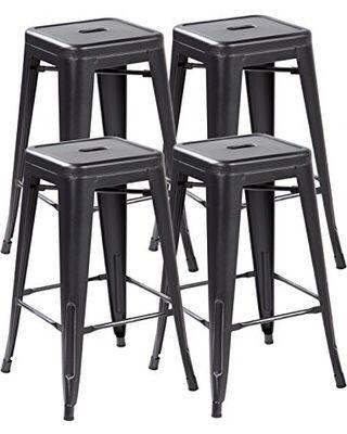 4x Brand New 30 Black Metal Bar Stool Barstools For Sale In Brea