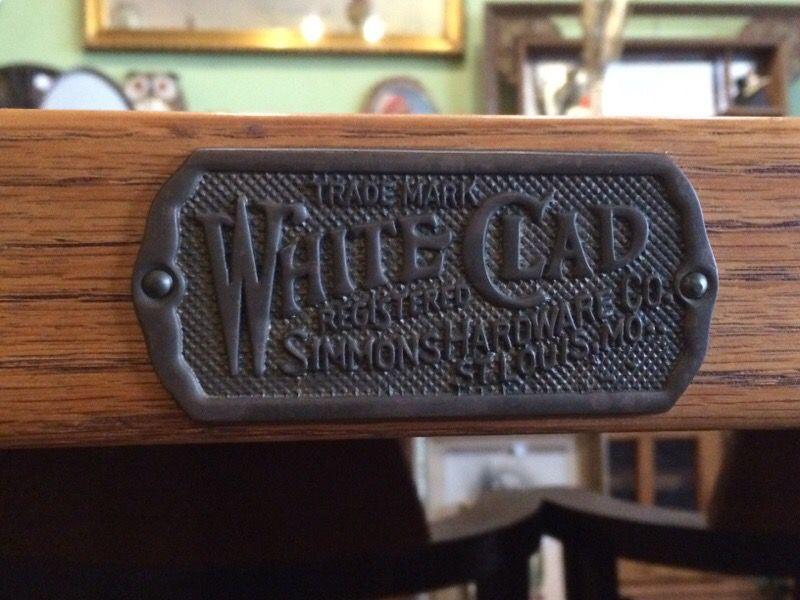 Vintage oak rolling bar serving microwave cart
