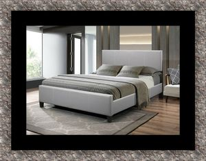 Grey platform bed all sizes in stock free mattress and delivery for Sale in McLean, VA