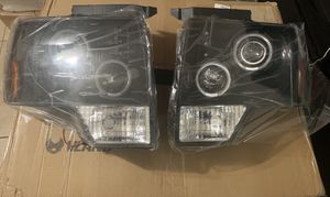 09-14 FORD F-150 DUAL ANGEL EYES HALO PROJECTOR HEADLIGHTS WITH AMBER REFLECTOR LIGHTING KIT for Sale in Houston, TX