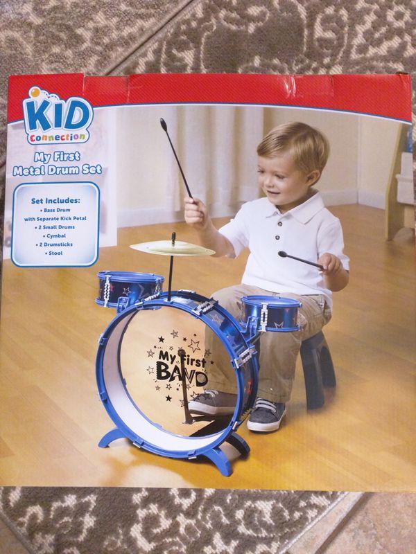 Brand New Metal Drum Set Toy 9 Pieces Baby Kids In San Lorenzo