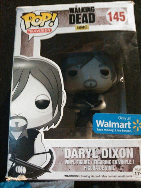 84f2805abd1 Funko Pop Vinyl Walking Dead Daryl Dixon Walmart Exclusive B W Variant