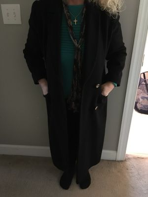 Woman's full length 100% cashmere coat for Sale in Apex, NC