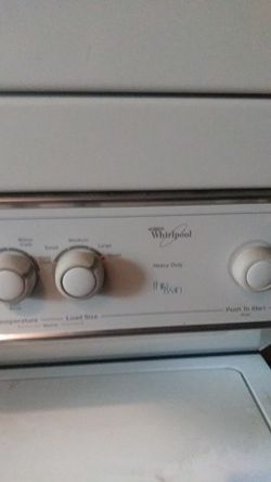 Stackable washer and dryer. Whirlpool Thumbnail