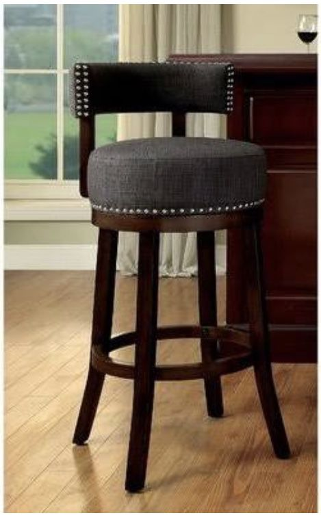 2 New Norden Contemporary Swivel 25 Inch Barstools For Sale In