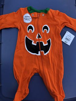 Baby pumpkin body suit Thumbnail