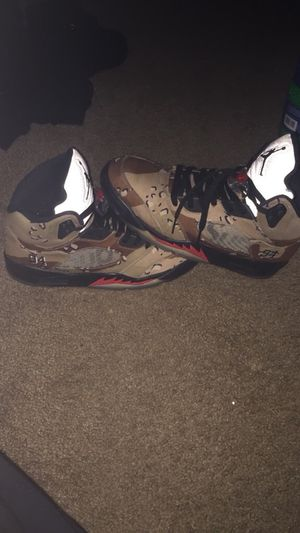 Air Jordan x Supreme Retro 5s Size 9 for Sale in Carol Stream 115eda95c