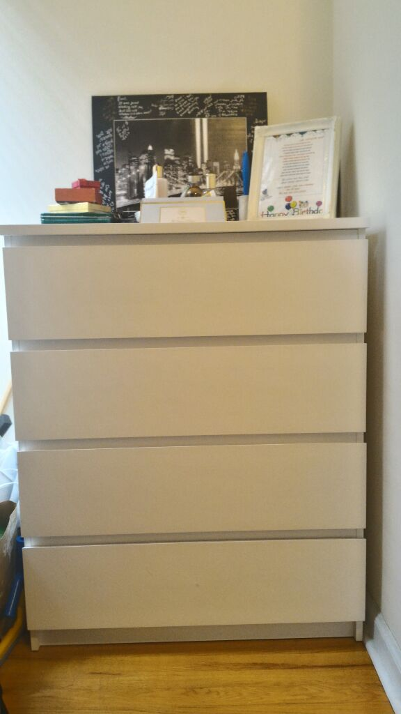 Ikea S Malm 4 Drawer Chest White 31 1
