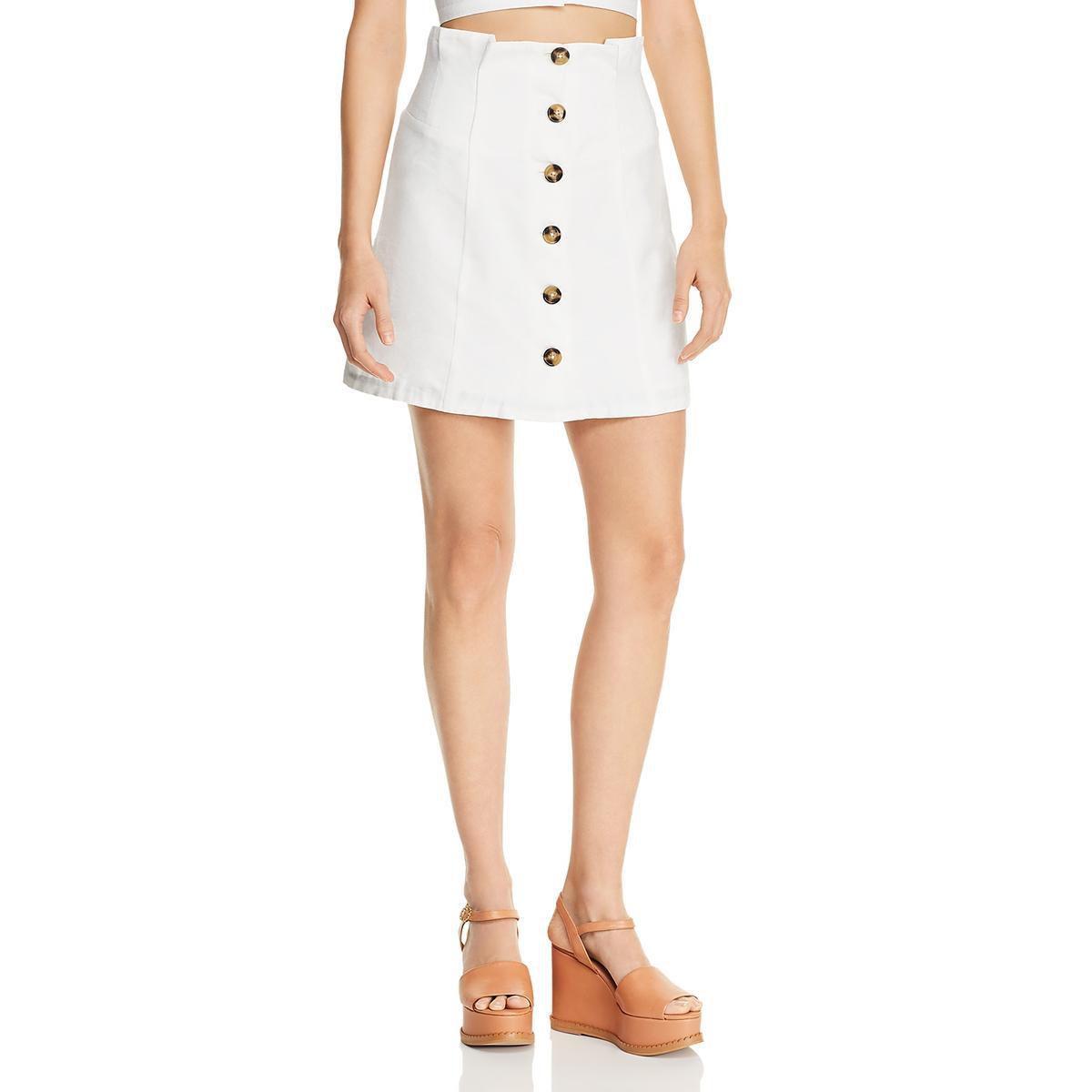 Lucy Paris Womens Mini White Size Large