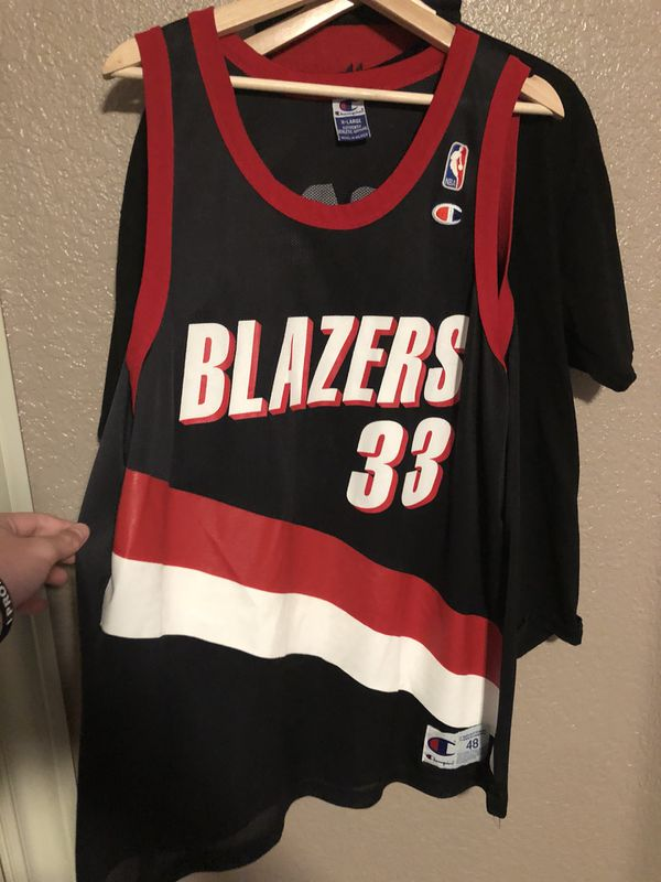 scottie pippen game used and signed portland trail blazers home jersey jsa.  hover to zoom  vintage champion scottie pippen trail blazers jersey  clothing ... 71485a858