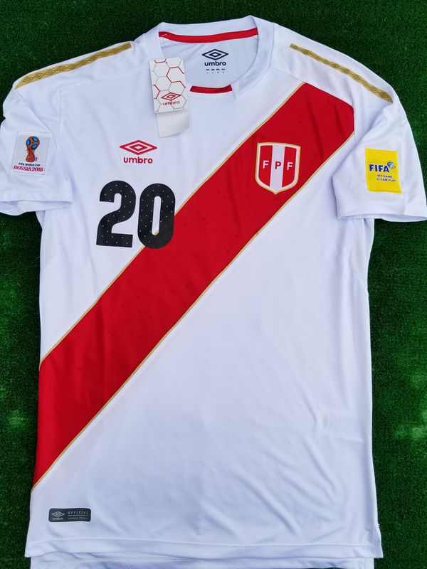 6f7ae034e 2018 Peru soccer jersey Flores for Sale in Raleigh