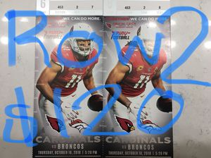 cardinals broncos tickets for Sale in Avondale, AZ