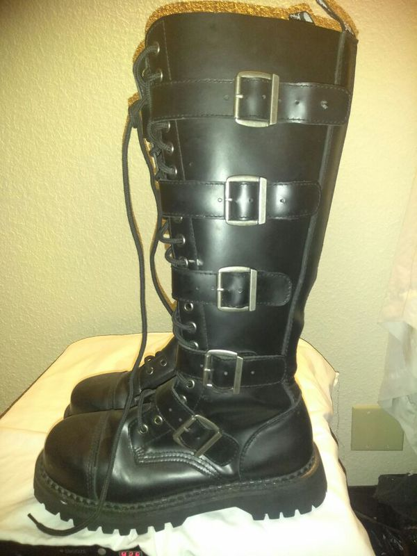 0932e481465 Demonia Riot -20 Men Knee High Combat Boots for Sale in Irving