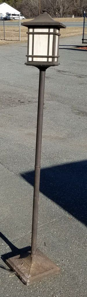 Outdoor Metal Lamp Post. Electric With Adjustable Mood Lighting for Sale in Graham, NC