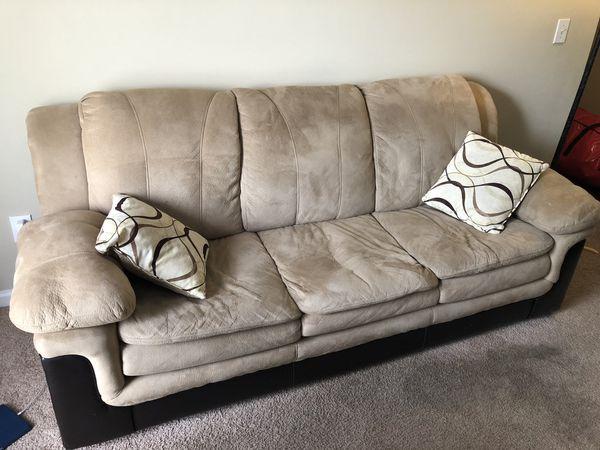 Tan Brown Microfiber Sofa