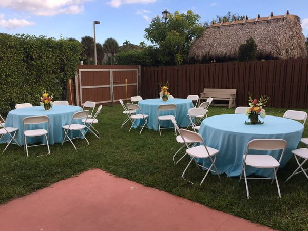Party Rental Chairs 2 Tables 10 Delivery Included For