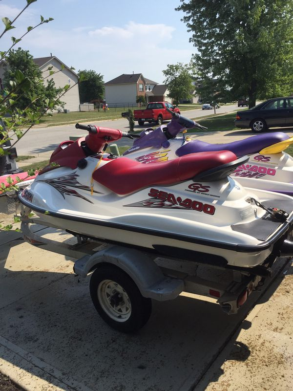 1997,2000 seadoo gs with titon double trailer