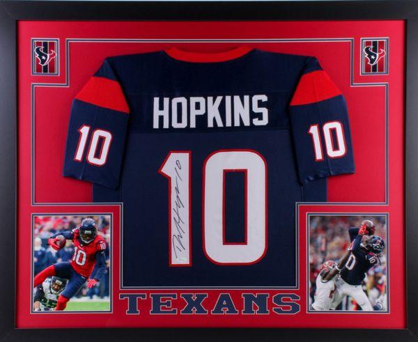 quality design f7145 e132b DeAndre Hopkins Custom Framed Texans Jersey for Sale in Houston, TX -  OfferUp