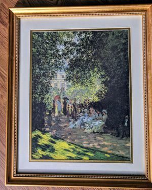 Monet print in gold wood frame for Sale in Silver Spring, MD