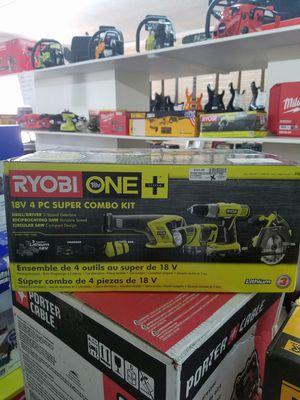 Photo RYOBI 18V 4 PIECE COMBO SET - MODEL # P883