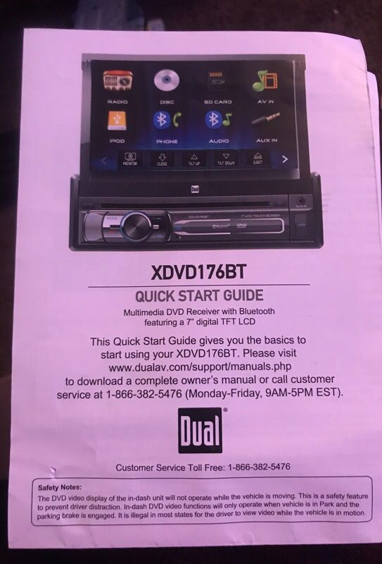 Dual xdvd176bt 2-din car stereo illustration for Sale in Atlanta, GA -  OfferUp