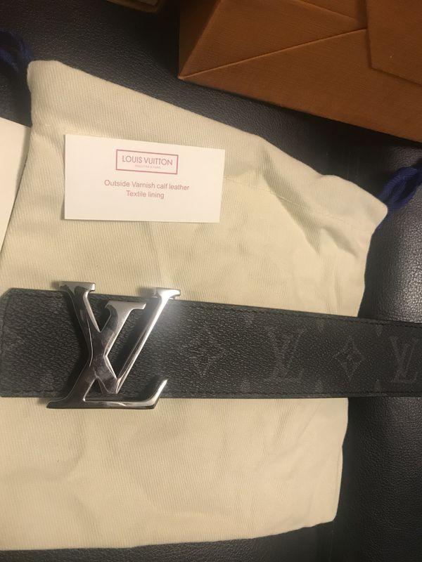 d8be7a5f5f45 Authentic Louis Vuitton Black Monogram LV Initiales Reversible Belt with  Receipt!