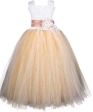 c99bf4325e5 Flower girl  princess Champagne toddler girl dress for Sale in Montebello