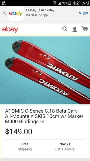 Atomic beta carv c7-18 skis for Sale in Salt Lake City, UT