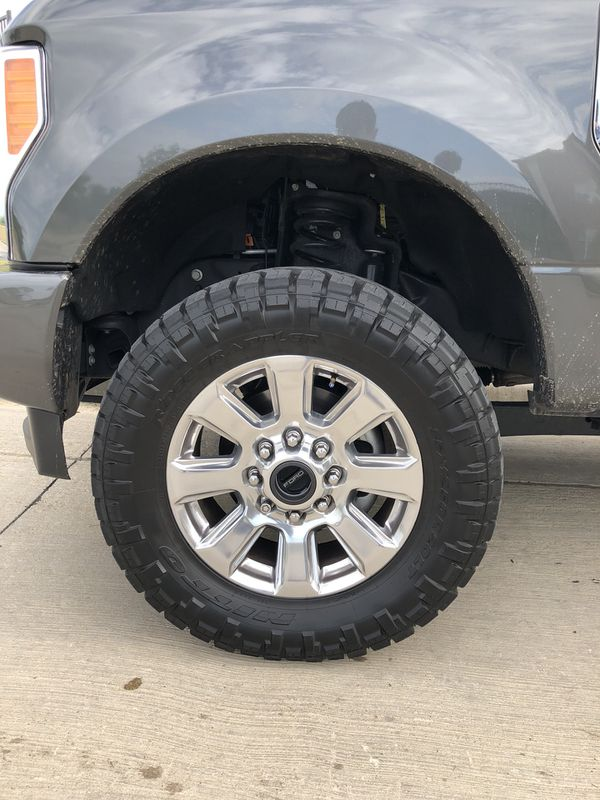 "2018 Ford F-250 Platinum Wheels with 35"" Nitto Ridge Grappler Tires for Sale in Dallas, TX - OfferUp"