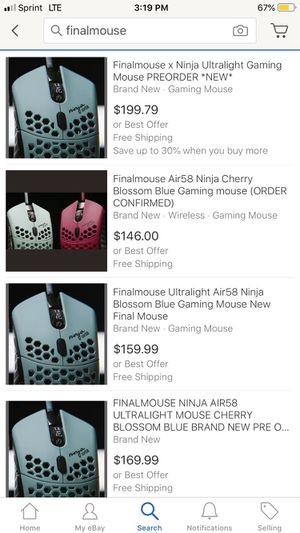 Finalmouse Air58 Ninja Gaming Mouse For Sale In Los Angeles Ca