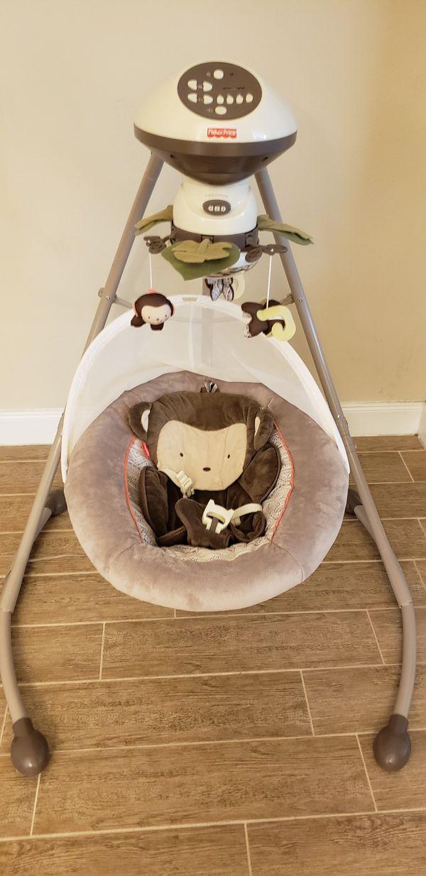 Fisher Price Monkey Baby Swing Rocker For Sale In Houston