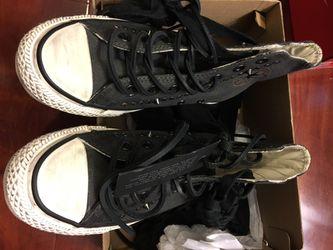 New converse x varvatos ct hi black white size men 4 women 6 Thumbnail