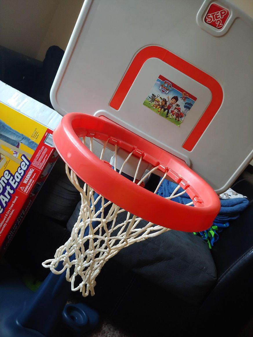 Basketball hoop step 2