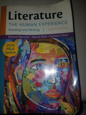 Literature, The Human Experience 12th Edition for Sale in Washington, DC