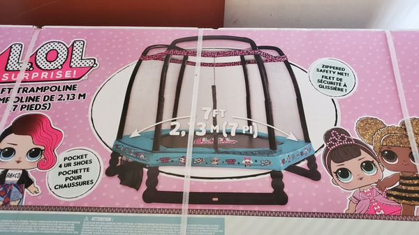 L O L Surprise 7 Foot Trampoline With Safety Enclosure For Sale