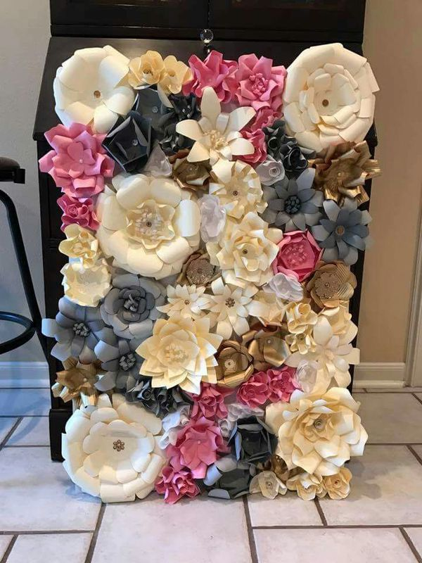 Paper Flower Backdrop 25x155x35x575x5 For Sale In Dundee Fl