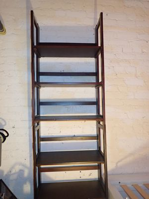 FREE Shelving Unit Dark Brown Wood Wooden Shelves for Sale in Arlington, VA