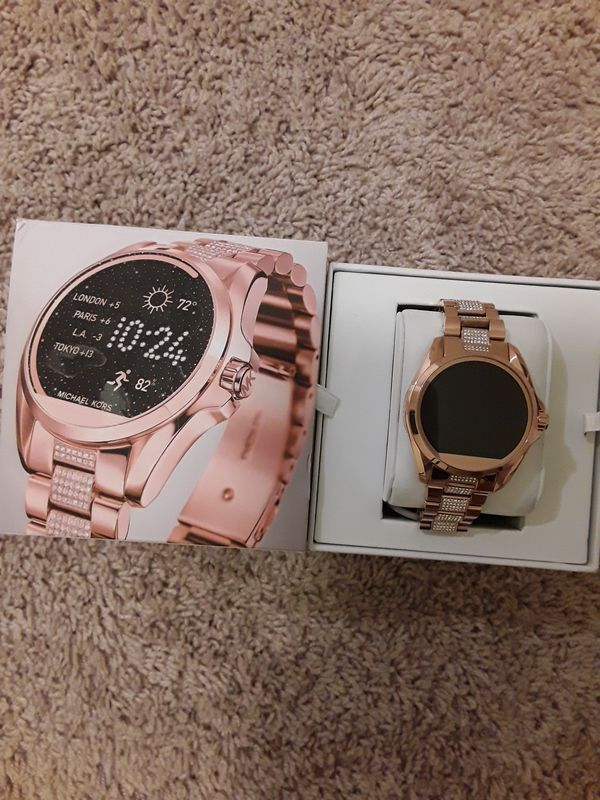 f2bcf4ae776c Michael Kors Access Bradshaw Women s Copper Smartwatch Stainless Steel