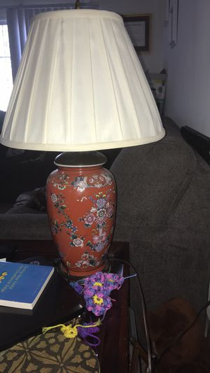 Red floral ceramic lamps for Sale in Yorktown, VA