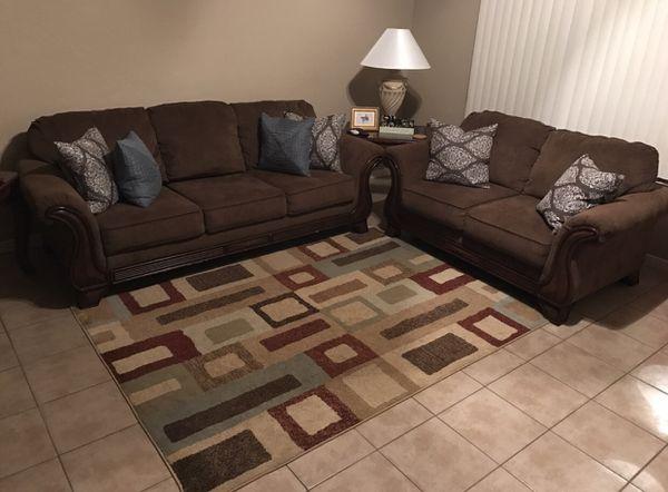 0ef9055abdfccc Living Room Set Signature Design By Ashley Montgomery Mocha Sofa And  Loveseat