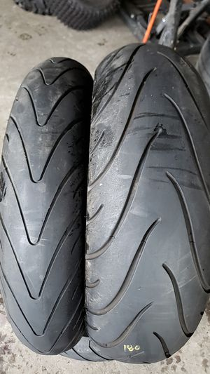 Front and rear tires for sport bike 120/70-17 rear 180 55 17 for Sale in San Diego, CA