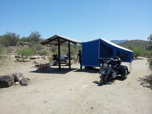 2010 Motorcycle camper/ tent trailer/ sleeper/ Time Out Easy Camper for Sale in Phoenix, AZ